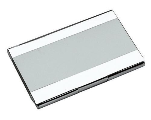 Visol V610B Stripe Stainless Steel Business Card Case