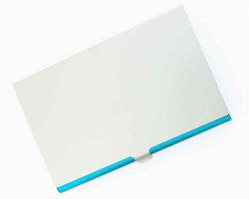 Visol V107BL Light Blue Aluminum Business Card Case