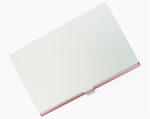 Visol V107BP Pink Aluminum Business Card Case