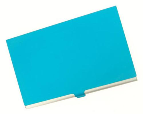Visol V108BL Light Blue Cover Aluminum Business Card Case