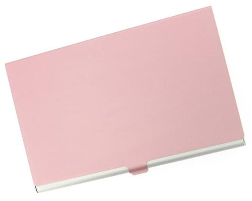 Visol V108BP Pink Cover Aluminum Business Card Case