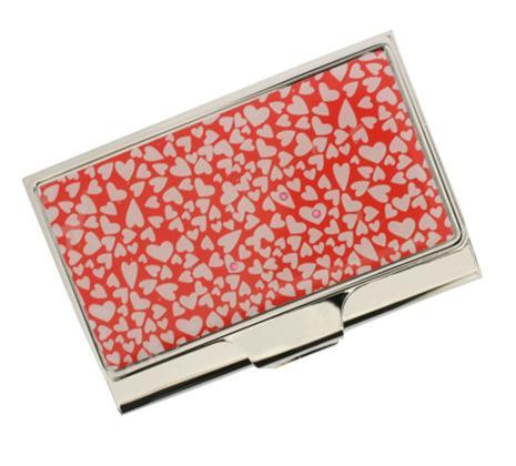 Visol V643B Heartfelt Stainless Steel Business Card Case