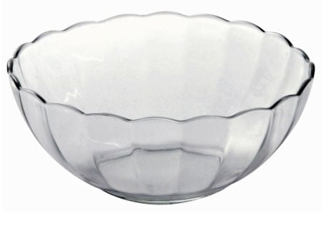 Lancaster Colony SM400031503 Bella Scalloped Bowl#44; 1 qt#44; clear#44; pk 6 ea
