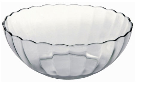 Lancaster Colony SM400031703 Bella Scalloped Bowl#44; 2 qt#44; clear#44; pk 6 ea