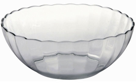 Lancaster Colony SM400031803 Bella Scalloped Bowl#44; 3.25 qt#44; clear#44; pk 6 ea