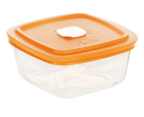 Lancaster Colony SM400072307 Facilita Square Bowl with Color Pl Vented Lid#44; 17 oz#44; pk 12 st