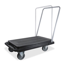 Deflect-O CRT550004 Heavy-Duty Platform Cart  500lb Capacity  20-9/10w x 32-5/8d x 9h  Black