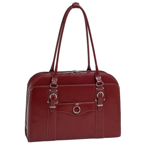 McKlein 96526 MCKLEIN HILLSIDE 96526 (Red) Leather Ladies' Briefcase - W Series - Italian Leather