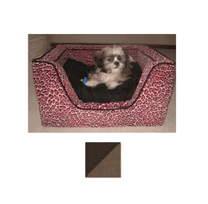Odonnell Industries 22493 Luxury X-Large Square Dog Bed with Memory Foam - Hot Fudge-Cafe