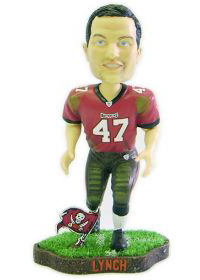 Tampa Bay Buccaneers John Lynch Game Worn Forever Collectibles Bobblehead