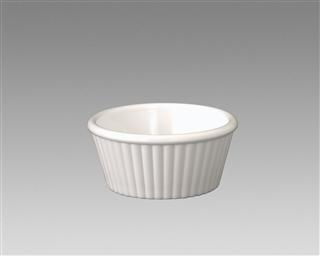Gessner Products IW-0360A-WH 1 oz. Fluted Ramekin- Case of 12