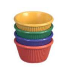 Gessner Products IW-0383A-KIWI 3 oz. Fluted ramekin- Case of 12