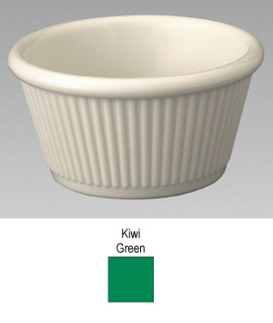 Gessner Products IW-0384A-KIWI 4 oz. Fluted Ramekin- Case of 12