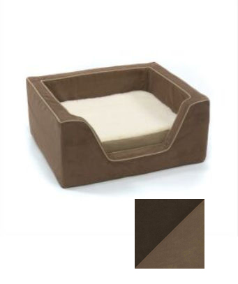Odonnell Industries 22293 Luxury Medium Square Dog Bed with Memory Foam - Hot Fudge-Cafe