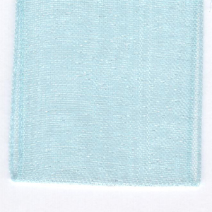 Papilion R072070160314100Y .63 in. Sheer Chiffon Ribbon 100 Yards - Aqua