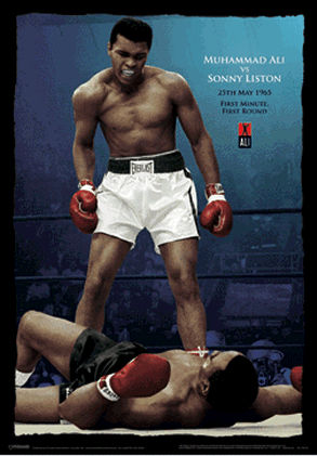 Pyramid America PPL70079F Muhammad Ali vs Liston - Color Poster