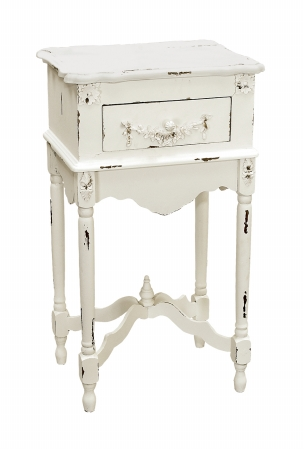 Sterling Industries 89-1803 White Milkpaint Side Table Furniture