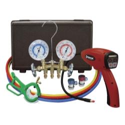 Mastercool MSC55100-R-KIT Electronic Leak Detector with Brass Gauge Set ISN8864