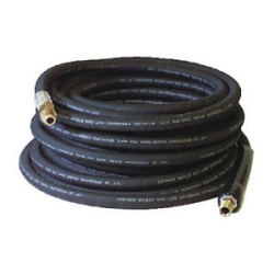 APH98388085 .38in. ID x 50ft. Black Rubber Pressure Washer Hose Coupled MPT x MPT Swivel