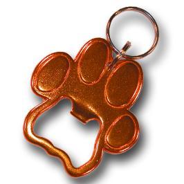 Bison 150460 Paw Print Keychain-Bottle Opener