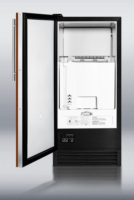 Summit Appliances BIM44IFADA ADA compliant built-in automatic defrost icemaker with integrated door frame -Black