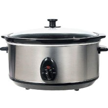 Brentwood SC-150S 6.5 Quart Slow Cooker - Stainless Steel Body