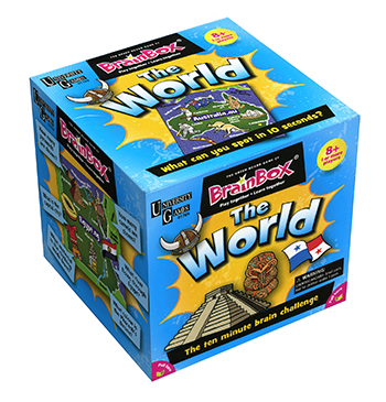 University Games UG01769 Brain Box The World    