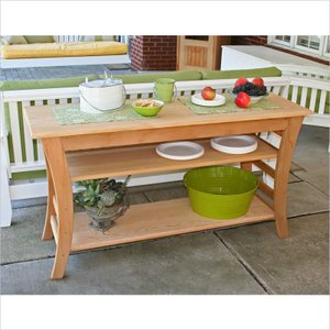 Creek Vine Design ELY4820CVD 48 in. Cedar Entertaining Buffet Table