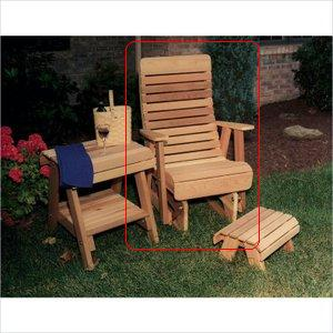 Creek Vine Design WF1230-2CVD 2 ft. Cedar Twin Ponds Rocking Glider