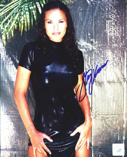Superstar Greetings SKA-8c Stacy Kamano Signed 8X10 Photo - Wetsuit-N
