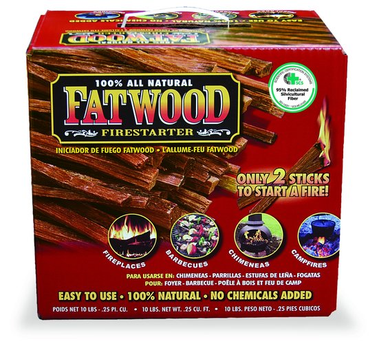 UniFlame C-1710 10 Pounds Fatwood In Color Carton