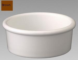 Gessner Products IW-0362-BR 3 oz. Low Profile Ramekin- Case of 12