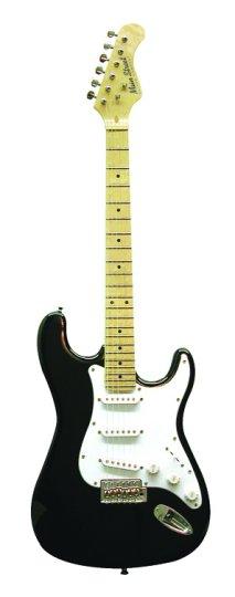 Main Street Guitars MEDCBK Double Cutaway Electric Guitar - Black