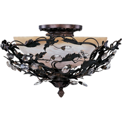 Maxim Lighting 2859OI Elegante 3-Light Semi-Flush Mount - Oil Rubbed Bronze