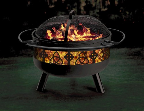 Stone River Gear Celtic Combo Firepit-Grill - Version 2 Firepit, Firepits, Fire Pit, Outdoor Fireplace, Gas Firepit, Metal Firepit, Stone Firepit