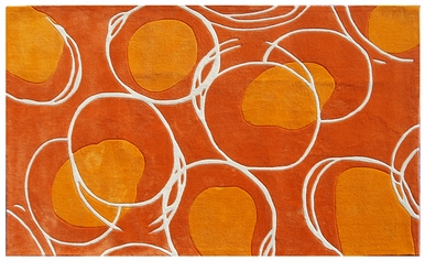 The Rug Market 72412D 5 ft. x 8 ft. Lysander Hand Tufted Rug - Orange at Sears.com
