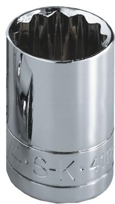 Sk Hand Tool Llc SK43704 .25 in. Drive 12 Point Standard Metric Socket 6mm