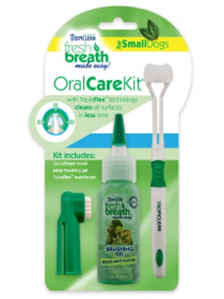 Tropiclean 015186 Fresh Breath Oral Care Kit for Small Dogs