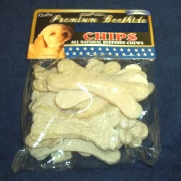 Pet Factory 547689 8oz 100 Percent Made In Usa American Beefhide Chips
