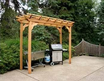 Creek Vine Design WRF314PERGCVD 3 ft. x 14 ft. Cedar New Dawn Pergola
