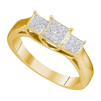 Gold and Diamonds SRF6709 0.10CT-DIA MICRO PAVE RING- Size 7