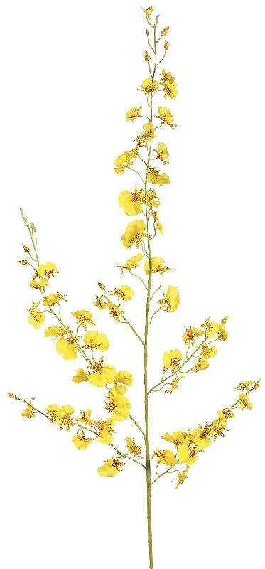 40 Inch New Dancing Orchid Spray x77 Yellow - Qty of 12