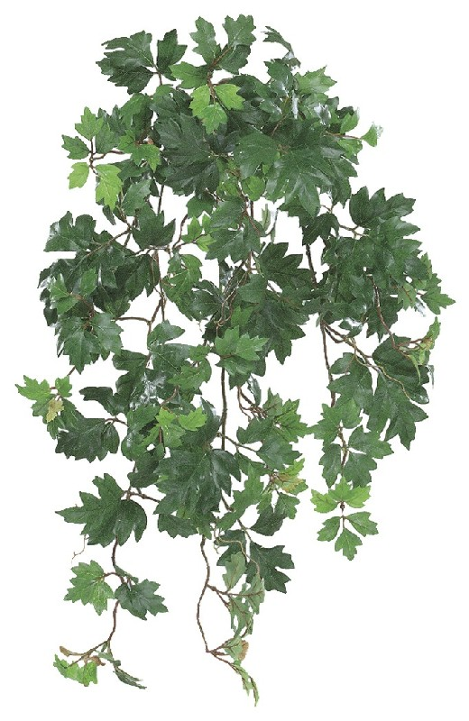 26 Inch Danica Ivy Bush x9 with 280 Leaves Burgundy Green - Qty of 6