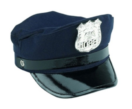 "Aeromax PS-CAP 5"" x 1"" x 13"" Learning and Education Jr. Police Officer Cap"