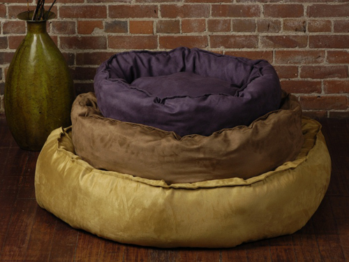 The Shrimp 1143 Nest Small Bed Cover in Plum Suede