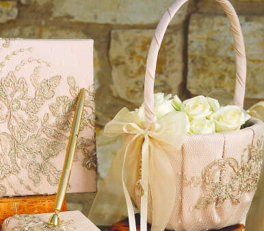 Bella Donna Flower Girl Basket - Champagne