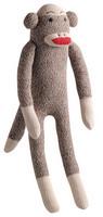 MultiPet MU48084 Sock Pals Sock Toy- Monkey Small