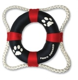 Paws Aboard PAW2400 Life Ring Toy - Red-Blue..
