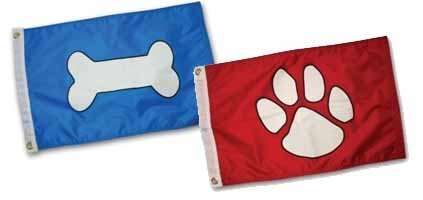 Paws Aboard PAW4100 Paw Print Flag - Red..