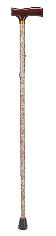Duro-Med 502-1325-9906 Designer Folding Cane - Derby Handle - Beige Floral